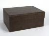 Faux Leather Box w Drawer