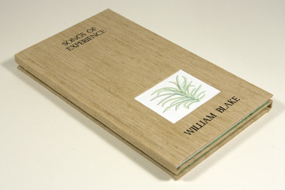 Poetry Book Cover Up ~ Bookbinding spring leaf press