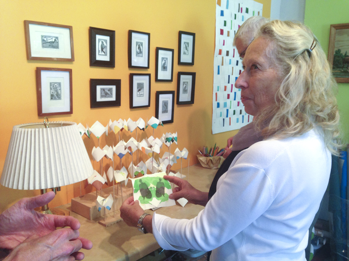 Carmel showing an artist book piece
