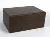 Faux Leather Box w Drawer
