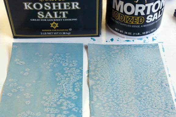 Salt Print Experiments